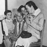Mischa Bakaleinikoff, wife Yvonne,  and sons Bill (L) and Tony (R)