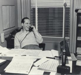 Milton Rosen at his Universal office